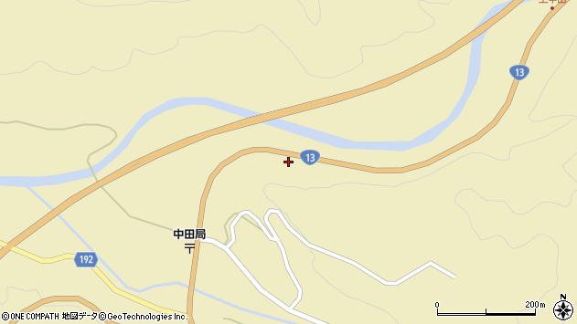 山形県最上郡金山町中田209周辺の地図