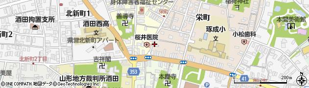 山形県酒田市栄町周辺の地図