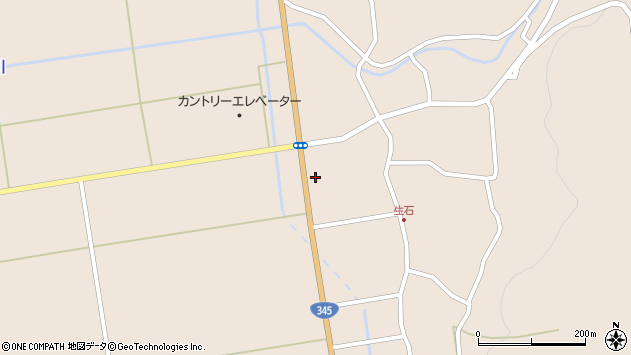 山形県酒田市生石登路田10周辺の地図