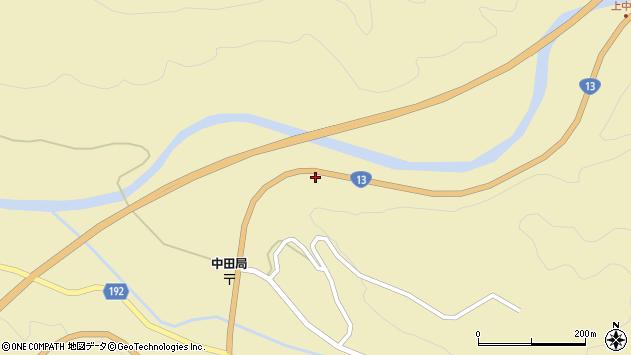 山形県最上郡金山町中田212周辺の地図