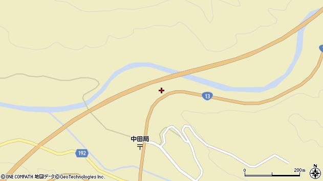 山形県最上郡金山町中田215周辺の地図