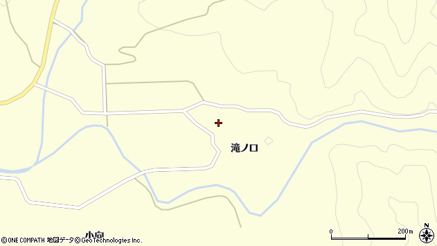 山形県酒田市北俣滝ノ口28周辺の地図