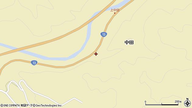 山形県最上郡金山町中田188周辺の地図