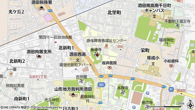 山形県酒田市北今町周辺の地図