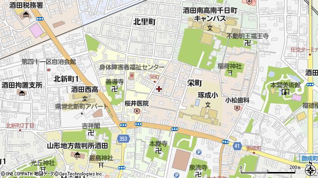 山形県酒田市栄町15周辺の地図