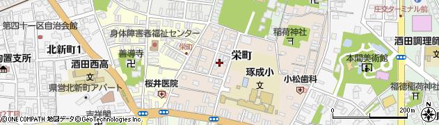 山形県酒田市栄町17周辺の地図