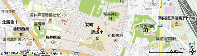 山形県酒田市栄町10周辺の地図