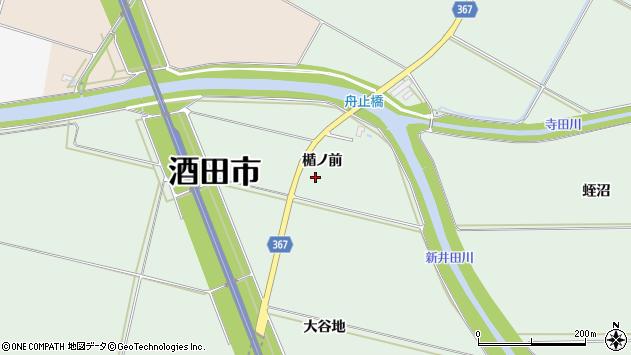 山形県酒田市漆曽根楯ノ前周辺の地図