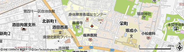 山形県酒田市北今町2周辺の地図