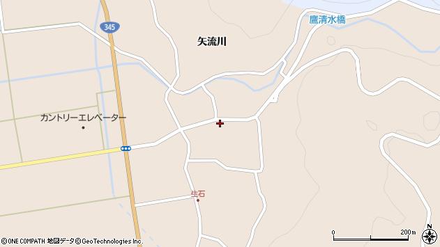 山形県酒田市生石矢流川76周辺の地図
