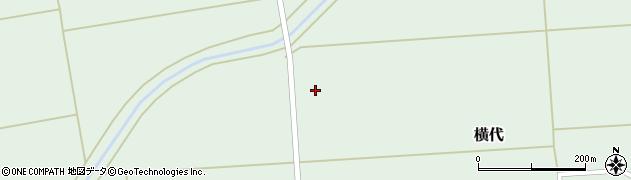 山形県酒田市横代横沼周辺の地図