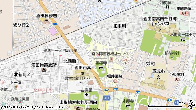 山形県酒田市北今町6周辺の地図