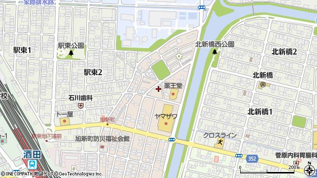 山形県酒田市旭新町17周辺の地図