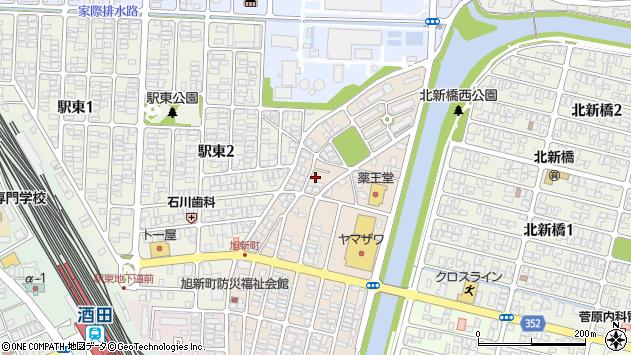 山形県酒田市旭新町18周辺の地図