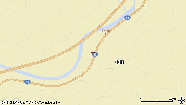 山形県最上郡金山町中田190周辺の地図