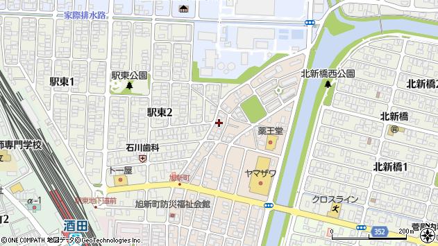 山形県酒田市旭新町24周辺の地図