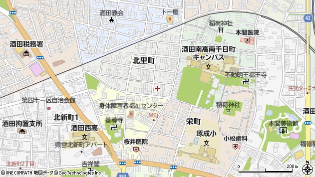 山形県酒田市北里町1周辺の地図