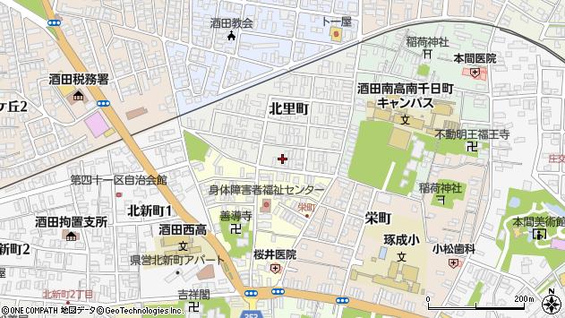 山形県酒田市北里町9周辺の地図