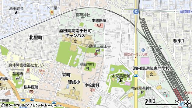 山形県酒田市栄町7周辺の地図