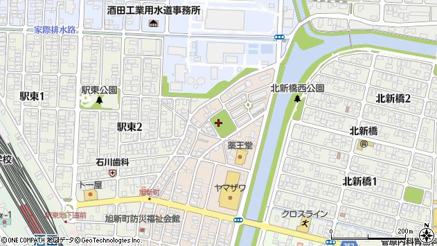 山形県酒田市旭新町19周辺の地図