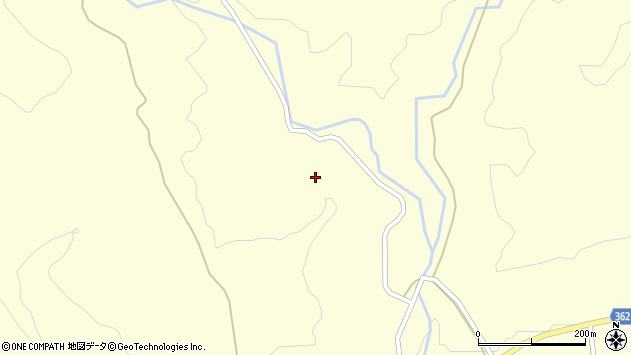 山形県酒田市北俣石原台周辺の地図