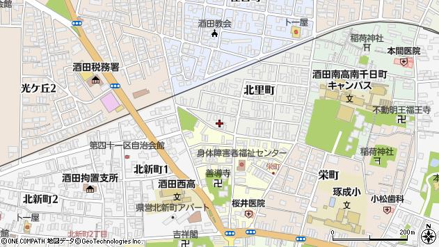 山形県酒田市北里町10周辺の地図