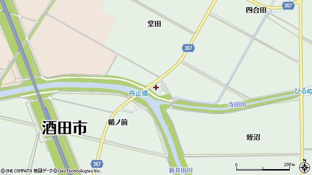 山形県酒田市漆曽根堂田周辺の地図