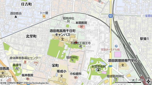 山形県酒田市南千日町36周辺の地図