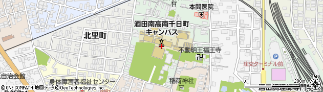山形県酒田市南千日町4周辺の地図