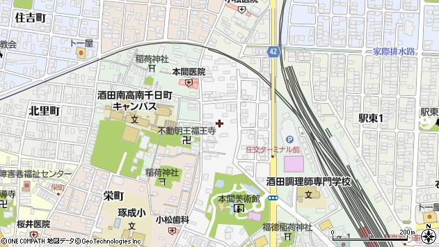 山形県酒田市御成町14周辺の地図