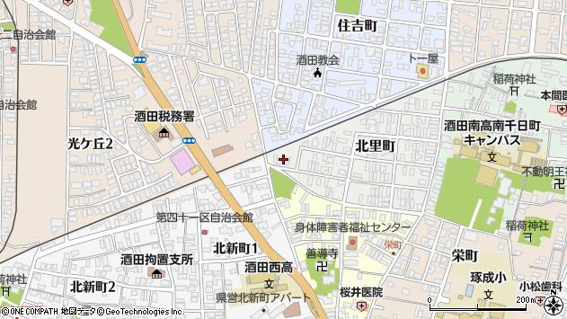 山形県酒田市北里町13周辺の地図