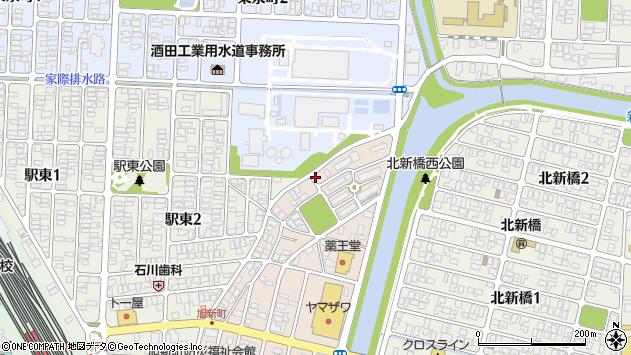 山形県酒田市旭新町22周辺の地図