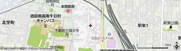 山形県酒田市御成町周辺の地図
