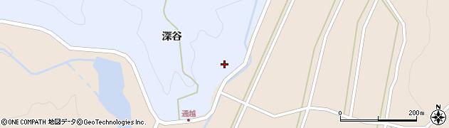 山形県酒田市北沢深谷112周辺の地図