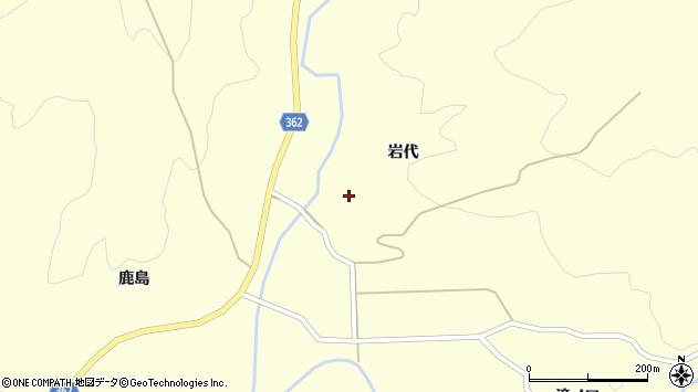 山形県酒田市北俣岩代周辺の地図