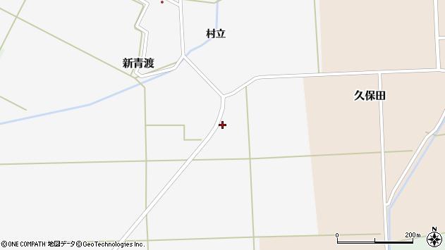山形県酒田市新青渡村立1周辺の地図