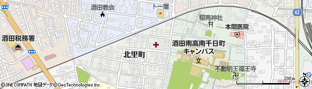 山形県酒田市北里町4周辺の地図