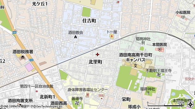山形県酒田市北里町6周辺の地図