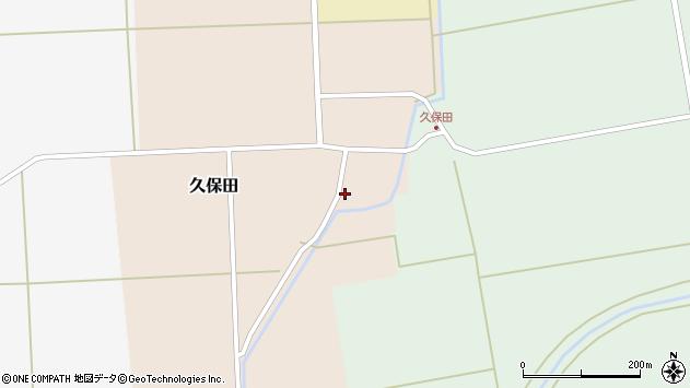 山形県酒田市久保田村西1周辺の地図