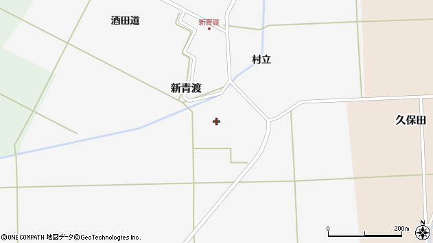 山形県酒田市新青渡広面田周辺の地図