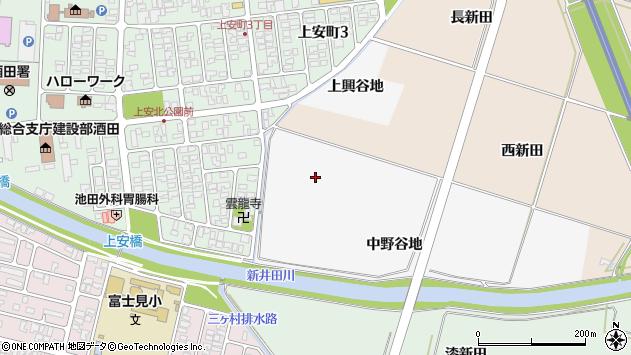 山形県酒田市中野曽根西新田周辺の地図