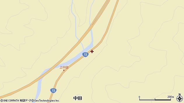 山形県最上郡金山町中田164周辺の地図