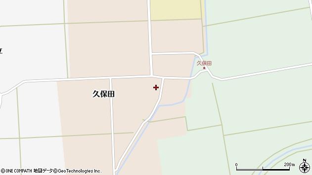 山形県酒田市久保田村南周辺の地図