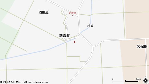 山形県酒田市新青渡村立75周辺の地図