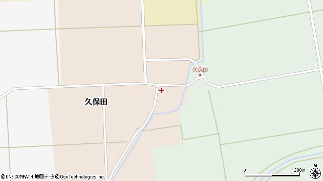 山形県酒田市久保田周辺の地図