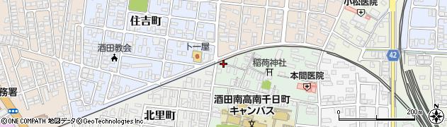 山形県酒田市南千日町9周辺の地図