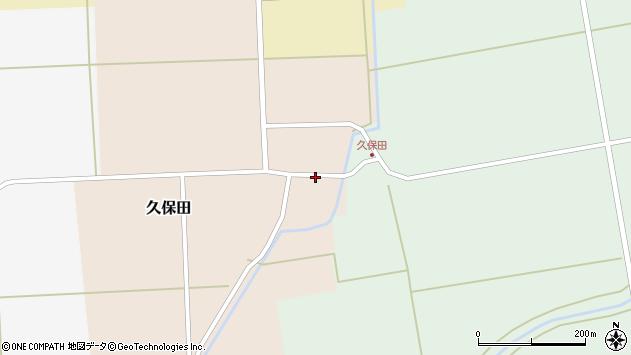 山形県酒田市久保田村西6周辺の地図