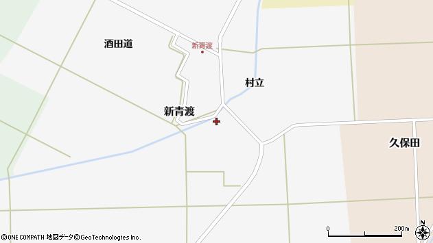 山形県酒田市新青渡村立76周辺の地図