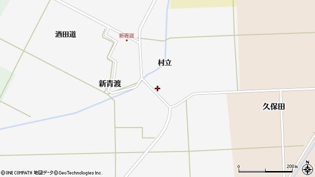 山形県酒田市新青渡村立21周辺の地図