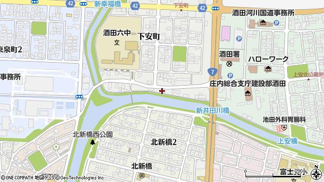 山形県酒田市下安町54周辺の地図